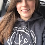 Leah sporting her new LeLe Hoodie! Everyone loves the hoodies :)