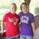Sarah from InTheGapShirts.com wearing LeLe gear & Laura wearing ITG gear!